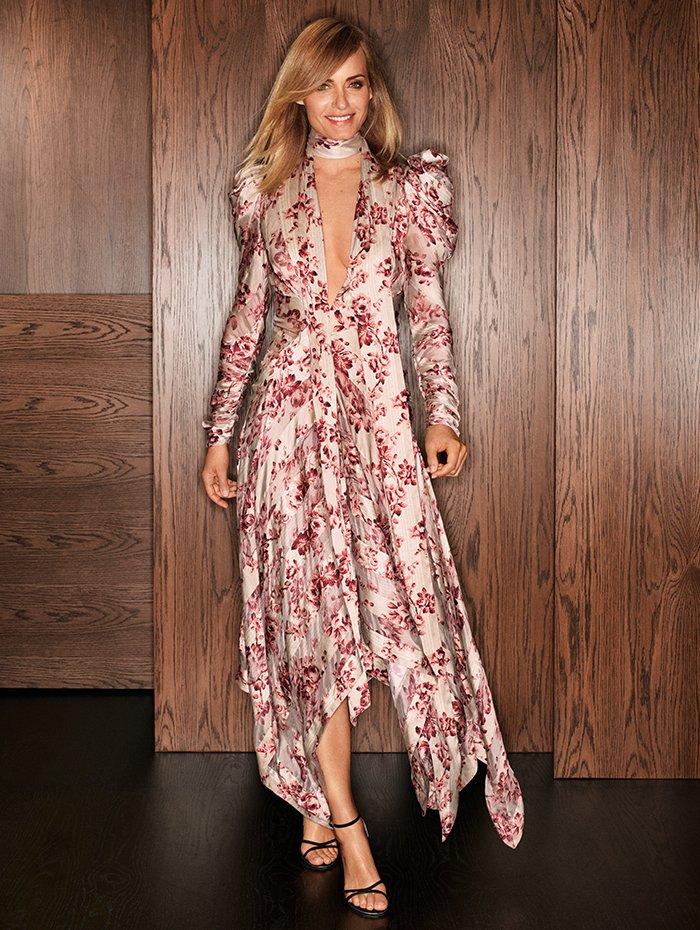Holt Renfrew Image of ZIMMERMANN Silk Unbridled Chevron dress. $3445.