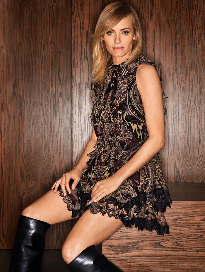 Holt Renfrew Image of ETRO Silk sleeveless dress with ruffle details in brown paisley print. $3300.