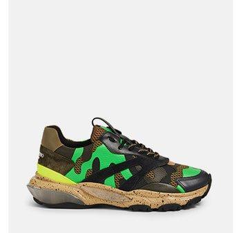 Holt Renfrew image of VALENTINO GARAVANI. Bounce Sneakers In Camouflage. SHOP NOW
