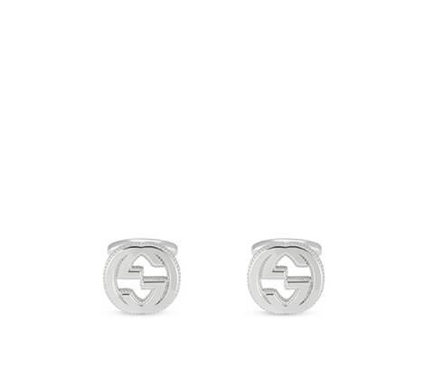 Holt Renfrew image of GUCCI Interlocking G Sterling Silver Cufflinks. $375. SHOP NOW