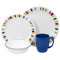 Corelle® Livingware™16-pc. Classic Cafe Blue Dinnerware Set