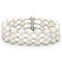 Freshwater Pearl 3 Row Bracelet