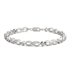 1/10 CT. T.W. Diamond Sterling Silver Bracelet