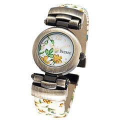 Decree® Fashion Floral Bangle Watch