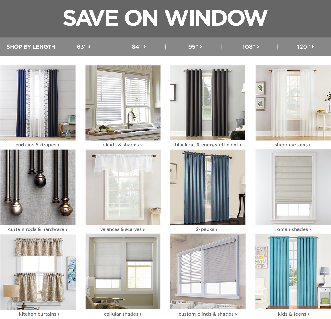 Window Treatments, Curtains, Blinds & Curtain Rods - JCPenney