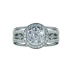 Modern Bride Signature Womens 1 CT. T.W. Genuine Round White Diamond 14K Gold Engagement Ring