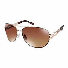Rocawear Full Frame Aviator UV Protection Sunglasses-Womens
