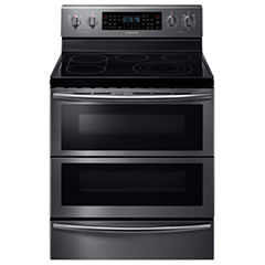 Samsung 5.9 Cu. Ft. Free-Standing Electric Flex Duo® range with Soft Close and Dual Door™