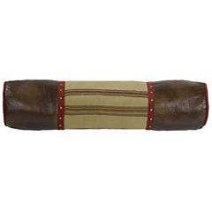 HiEnd Accents Ruidoso Oversized Striped & Studded Decorative Neck Roll Pillow