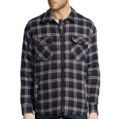 Work King Zip Front Quilt-Lined Flannel Shirt - Big & Tall