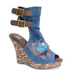 Muk Luks Sage Womens Wedge Sandals
