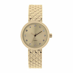 Mixit Womens Gold Tone Bangle Watch-Jcp2974gt