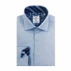 Society of Threads Slim Fit Long Sleeve Dress Shirt