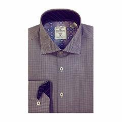 Society Of Threads Long Sleeve Woven Stripe Dress Shirt