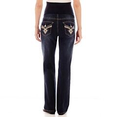 Tala Maternity Overbelly Flap-Pocket Bootcut Jeans