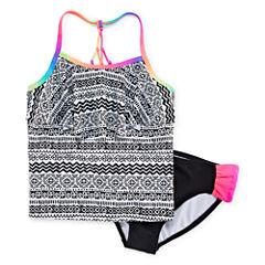 Angel Beach 2-pc. Rainbow Tankini Swimsuit - Girls 7-16
