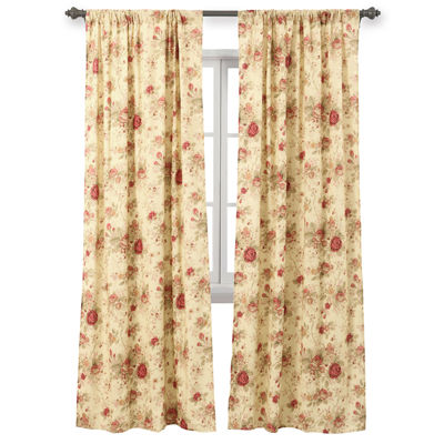 greenland home fashions antique rose 2pack rodpocket lined curtain panels - Greenland Home Fashions