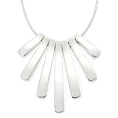 Liz Claiborne® Silver-Tone Mini-Shower Necklace