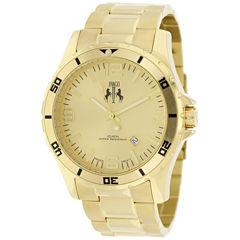 Jivago Mens Gold Tone Bracelet Watch-Jv6114