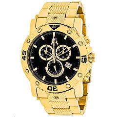 Jivago Mens Gold Tone Bracelet Watch-Jv9124xl