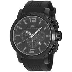 Oceanaut Mens Black Strap Watch-Oc2122