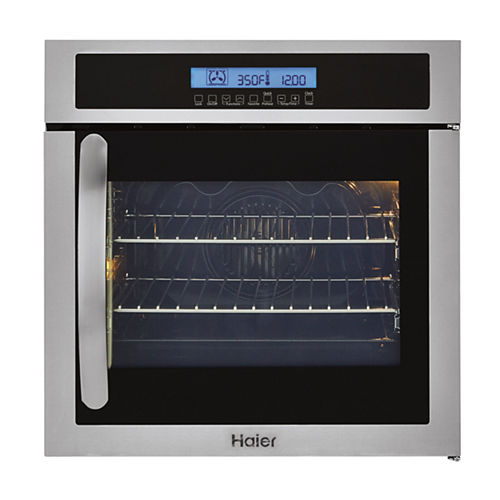 Haier 24 Single 2.0 Cu. Ft. Right-Swing True European Convection Oven