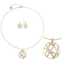 Liz Claiborne Womens 2-pc. Clear Jewelry Set