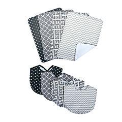 Trend Lab® Ombré Gray Bib and Burp Cloth Set