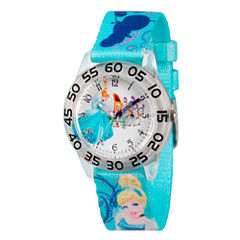 Disney Cinderella Girls Blue Strap Watch-Wds000129