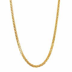 14K Yellow Gold Diamond-Cut Wheat Chain 20