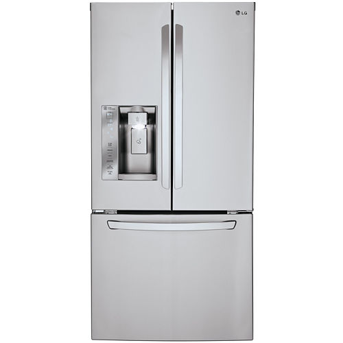 LG ENERGY STAR® 24.2 cu. ft. 33 Wide French Door Refrigerator with Ice and Water Dispenser