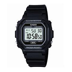Casio® Mens Black Resin Strap Square Digital Sport Watch F108WH-1AOS