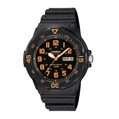 Casio® Mens Black Resin Strap Diver Sport Watch MRW200H-4BV