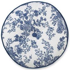 Toile Garden Round Decorative Pillow