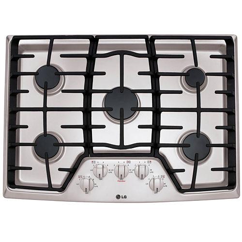 LG 30 Recessed Gas Cooktop with 5 Burners including 17K SuperBoil™ Burner
