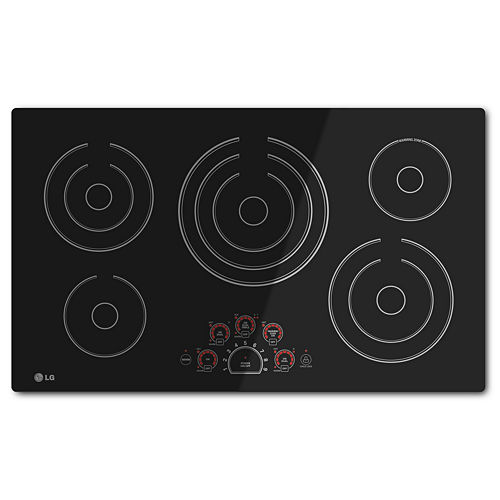 LG 36 Radiant Cooktop with 5 Elements and SmoothTouch™ Glass Controls