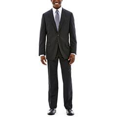Claiborne Stretch Black Solid Suit-Classic Fit