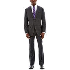 Claiborne® Charcoal Herringbone Suit Separates - Classic Fit
