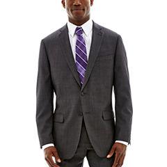 Claiborne® Charcoal Herringbone Stretch Suit Jacket - Classic Fit