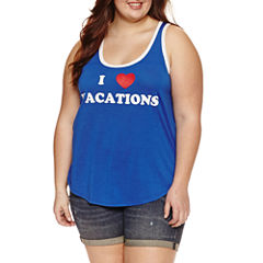 4th of July Racerback Tank- Juniors Plus