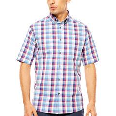 ARGYLECULTURE Plaid Button-Front Shirt