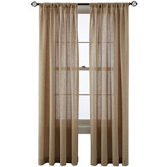 MarthaWindow™ Figment Rod-Pocket/Back-Tab Curtain Panel
