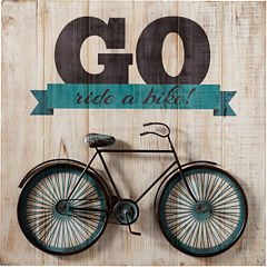 Go Ride a Bike Wall Art