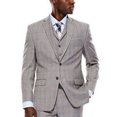 Collection by Michael Strahan Light-Gray Plaid Suit Jacket - Classic Fit