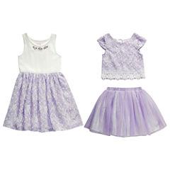 Young Land Skirt Set Toddler Girls