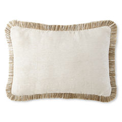 JCPenney Home™ Chenille Fringe Oblong Decorative Pillow