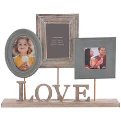 Burnes of Boston® Heartfelt Love Pedestal 3-Opening Collage Picture Frame