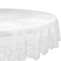 Design Imports Lace Floral Tablecloth