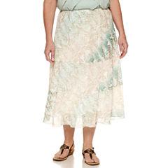 Alfred Dunner Flared Skirt-Plus