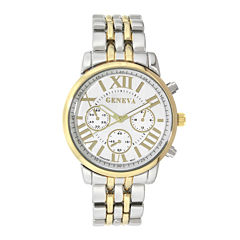 Geneva Womens Two-Tone Link Bracelet Watch